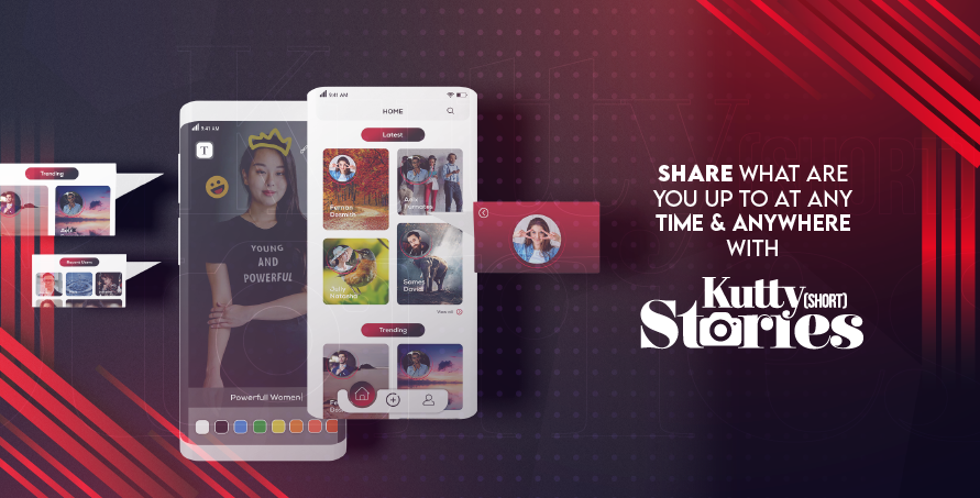 Share what are you up to at any time & anywhere with Kutty Stories